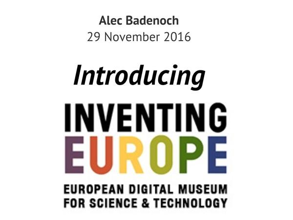 Alecander Badenoch - Inventing Europe