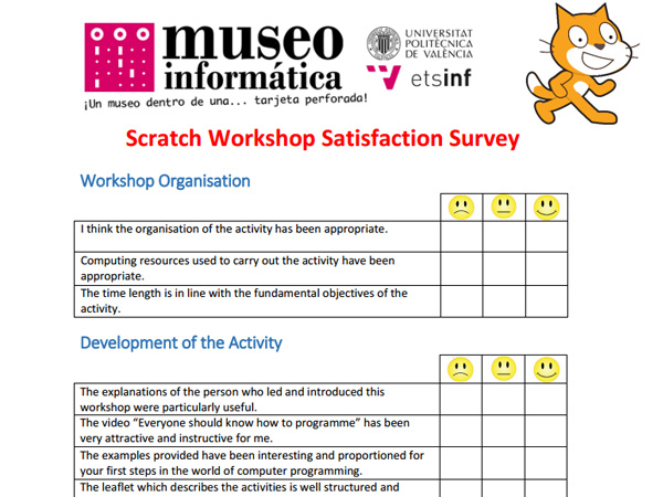 Scratch Workshop Satisfaction Survey